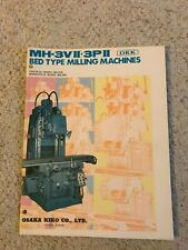 Okk Mh 3vii Amp Mh 3pii Bed Type Milling Machine Sales Catalog Made In Japan