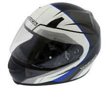 Integral Helmet, Scooter Motorcycle Helmet Takachi TK41 Schw-Weiß-Blau - Size L