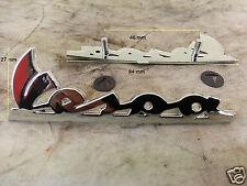 PLAQUE PIAGGIO VESPA PX coffres ET2 ET4 scudo ant de long. 84x27 mm PVC chrome