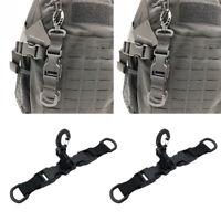 2pc Tactical Molle Hanging Belt Carabiner Webbing Buckle Strap Clip Backpack