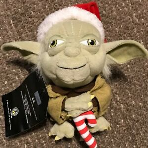 Star Wars Master Yoda Jedi Santa Christmas Mini Plush Exclusive HTF 2008 Rare