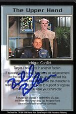 BABYLON 5 CCG Bill Blair THE GREAT WAR The Upper Hand TRADING CARD AUTOGRAPHED