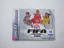 Notice d'origine instruction manual pour jeu game boy advance Fifa football 2004