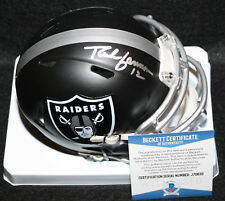 Rich Gannon signed Blaze Mini Helmet, Oakland Raiders, Blue Hens, Beckett BAS