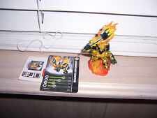 Skylanders Giants LEGENDARY IGNITOR With Stat Card & Sticker