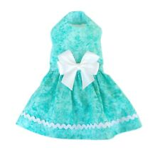 New ListingSummer Turquoise Dog Dress Little Dog Clothes Small Doggie Apparel Size S