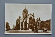 R&L Postcard: St Giles Cathedral Edinburgh, Vintage Car, Valentine's