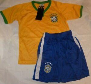 NEW Brazil World Cup Soccer Jersey Shorts Kids Boys XXXS NEW NWT