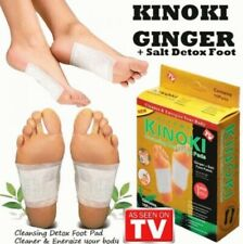Stay rejuvenated! Kinoki Foot Patch ginger + salt (x30 DETOX pads)+ free 2pcs
