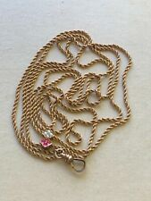 Antique Gold Filled Pocket Watch Double Chain with Slide