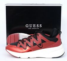 New Men's NIB GUESS GMTANE Dark Red SY Lace Up Sneakers Shoes 10.5 M