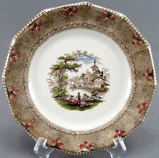 Mellor Venables Ningpo Hand Colored Brown Transferware Luncheon Plate 1834 - 51