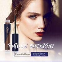 QIBEST 5 Color Long Lasting Eyebrow Cream Waterproof Dark Brown Cosmetic Natural