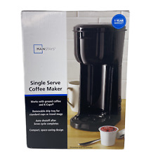 Black Dual Brew Single Serve Coffee Maker For Home And Kitchen
