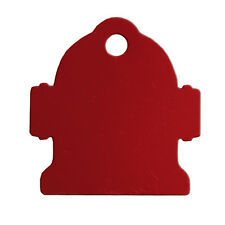 50 Red Large Dog ID Tag Fire Hydrants SPECIAL
