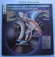 77342 - THE WORLD'S GREAT PIANO CONCERTOS - Various - Ex Con 3 LP Record Set