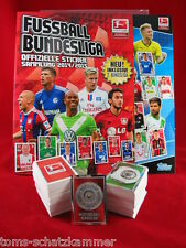 Topps Bundesliga 13/14 + 14/15 alle 2 Sätze komplett + Album Sticker Penny Markt