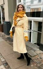 ZARA Faux Shearling coat limited edition butter Extra Small XS Teddy Fur Long