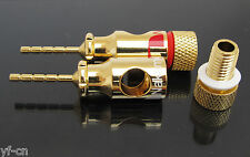 2pcs Nakamichi Gold 2mm Banana Plug to 4mm banana Jack socket Converter Adapter