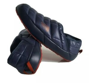 THE NORTH FACE THERMOBALL Traction Mule V Navy Blue Fur Slippers Shoes Mens 9