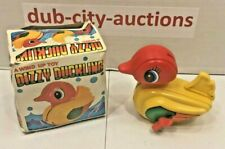 Vintage ~ Wind-Up ~ Dizzy Duckling ~ Plastic ~ Toy ~ Hong Kong ~ Free Shipping