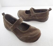 L.L. Bean Womens 8 W Brown Suede Mary Janes Shoes