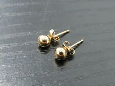 14k Yellow Gold 4mm Baby Stud Earrings