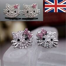 Hello Kitty Diamante Pendientes Regalo Gratis Bolsa diferentes variaciones UK Entrega Rápida