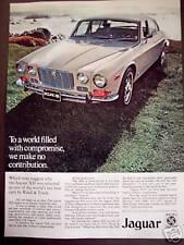 Jaguar XJ6 Jag classic car vintage 1972 Ad