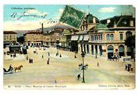 CPA 06 Alpes-Maritimes Nice Place  Masséna et Casino Municipal