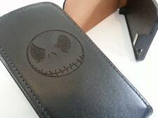 Apple Iphone 6 Jack Skellington Negro Flip Phone Funda Protectora cinco huesos de cráneo