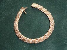TIFFANY & CO 14K GOLD BRACELET-Bold,substantial RUSSIAN WEAVE-Timeless elegance