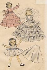 """6919 Learn-To-Sew Vintage Chubby Doll Pattern - Size 14"""" - Year 1954"""