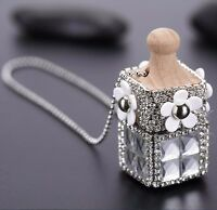 Crystal Car Air Hanging Freshener Perfume Diffuser Pendant Ornament Home Decor