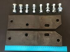 75-96 FORD BRONCO PARTS REAR STEP BUMPER BAR BRACKETS + BOLTS NEW BRONCO ONLY