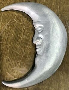 Knight Foundry Handmade Moon Face Casting - Choose Your Color, Home Decor, Gift