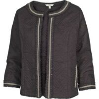 Fat Face - Women's - Quilted Embroidered Jacket - Black - Size 10 - BNWT