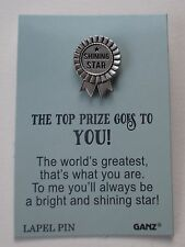 bb Shining Star Blue Ribbon The top prize goes to you Lapel TACK PIN actor
