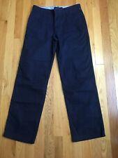 TOMMY HILFIGER Solid Navy Blue Flat Front Dress Suit Pants Boy's Size 16 NEW