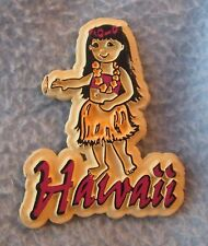 Hula Girl Hawaii Rubber Magnet, Souvenir, Travel, Refrigerator