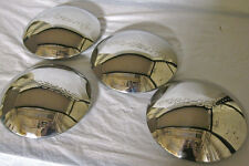 "1940 Ford Deluxe Logo Stainless Wheel Hubcap '40 Set of 4 Hubcaps 8 3/16"" Flange"