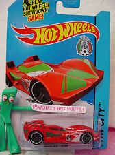 Q 2014 Hot Wheels SCOOPA DI FUEGO #16 US✿Red;Green/White;Soccer/Mexicana Futbol