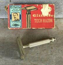*Vintage GILLETTE TECH SAFETY RAZOR in Original Box