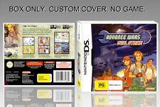 NINTENDO DS : ADVANCE WARS DUAL STRIKE. UNOFFICIAL COVER. ORIGINAL BOX. NO GAME.
