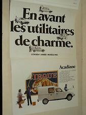 Prospectus CITROEN 2 CV LNA VISA GSA  1983 brochure catalogue car auto prospekt