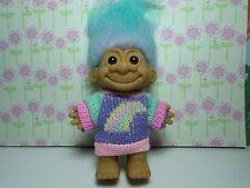 "RAINBOW SWEATER GIRL - 5"" Russ Troll Doll - NEW IN ORIGINAL WRAPPER - Rare"