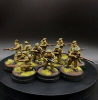 Pro Painted 28mm Bolt Action British infantry ×10 Squad #2 Warlord Games