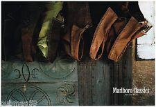 Publicité Advertising 1991 (2 pages) les manteaux pour homme Marlboro Classics