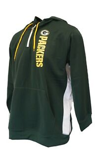 Green Bay Packers Women's NFL Majestic 1/4 Zip Track Jacket Green Plus Size
