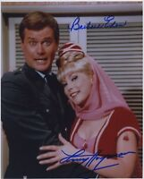 BARBARA EDEN & LARRY HAGMAN SIGNED AUTOGRAPHED I DREAM OF JEANNIE COLOR PHOTO